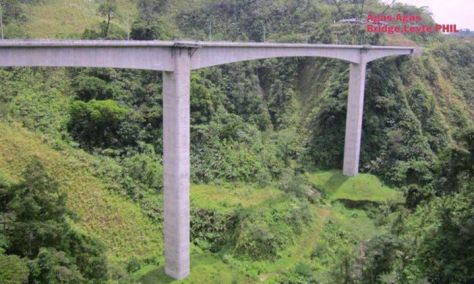 Agas-Agas Bridge towers magnificently from the depths of the woods and thick bushes and deep ravine in Sogod, Southern Leyte, Eastern Visayas, Philippines at a height of 95 meters  and span of 150 meters.It was built in 2009.