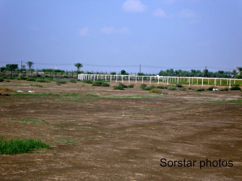 The racetrack built within the  farm area.