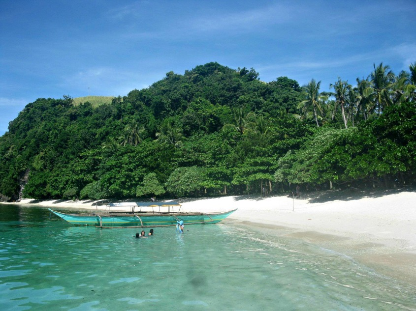 This Island boasts of lush and thick vegetation.Caramoan Island, Caramoan Peninsula, in the province of Camarines Sur, Bicol Region, Philippines.