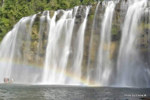 "Tinuy-an Falls earned the monicker ""Niagara of the Philippine Islands"""